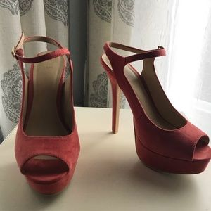Forever 21, pink, open-toed, strappy heel